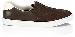 Ermenegildo Zegna Men's Leonardo Woven Leather Slip-On Sneakers
