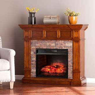 Loon Peak Buena Park Corner Convertible Infrared Electric Fireplace