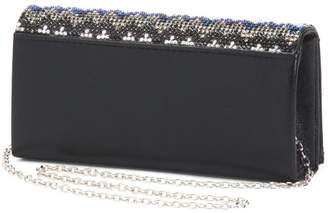 Beaded Flap Evening Bag With Chain Shoulder Strap