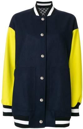 MSGM panelled bomber jacket