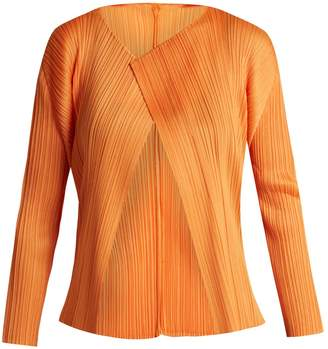Pleats Please Issey Miyake Cropped pleated cardigan