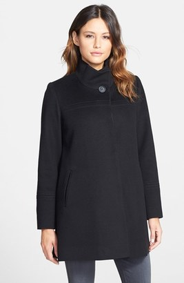 Women's Fleurette Wool Stand Collar Car Coat $1,049 thestylecure.com