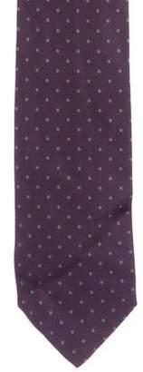 Hermes Polka Dot Print Silk Tie w/ Tags