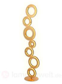 Goldfarbene LED-Stehleuchte Ringo