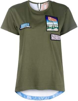 No.21 Motel motif T-shirt