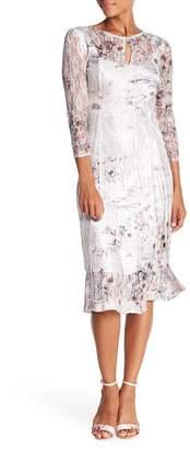 Komarov 3/4 Sleeve Keyhole Dress