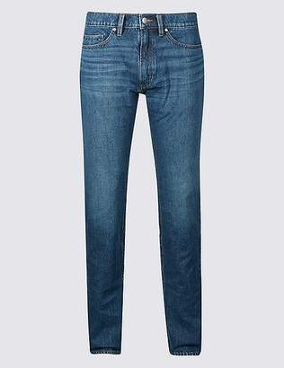 Marks and Spencer Tapered Fit Vertical Stretch Jeans