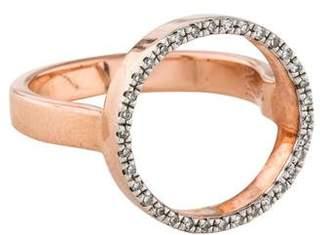 Monica Vinader Diamond Naida Circle Open Ring