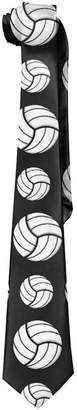 crystars Volleyball Sport Pattern Design Mens Necktie Fashion Silk Tie