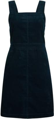 Dorothy Perkins Womens Teal Cord Square Neck Pinafore Dress