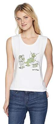 Disney Women's Pixar Toy Story Let's Play Raw Edge Graphic Muscle Tank