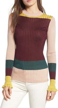 Scotch & Soda Colorblock Ribbed Sweater