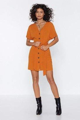 Nasty Gal Why Waist Your Time Button Dress