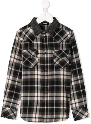 Diesel classic checked shirt
