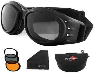 BOBSTER Bobster Cruiser 2 Interchange Goggle Black Frame w/3 Lenses