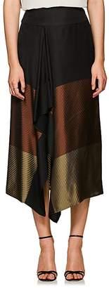 Zero Maria Cornejo Women's Striped & Colorblocked Midi-Skirt