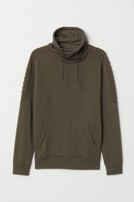 H&M Chimney-collar Sweatshirt - Green