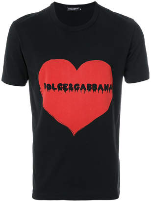 Dolce & Gabbana bleeding logo heart T-shirt