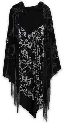 Roberto Cavalli Fringed Devoré-Chiffon Kimono