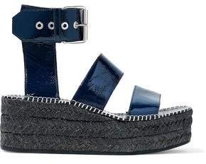 Rag & Bone Crinkled Patent-Leather Platform Espadrille Sandals