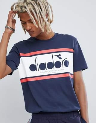 Diadora Spectra panel logo T-Shirt in navy