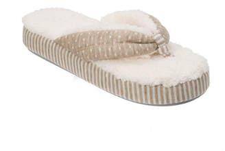 Dearfoams Platform Slip-On Slippers