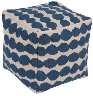 Surya Contemporary Cotton Cube Pouf