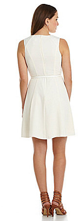 Jessica Simpson Paneled Fit-and-Flare Dress