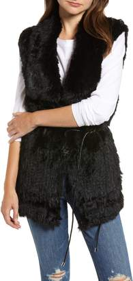 Love Token Longline Genuine Rabbit Fur Vest