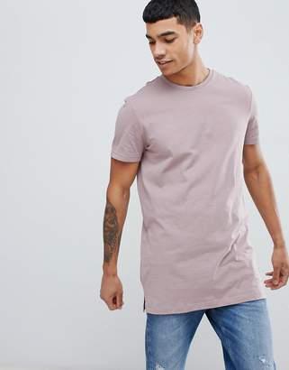 New Look longline t-shirt in purple