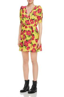 The Kooples Pivoine in Love Floral Silk Dress