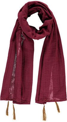 NUMERO 74 Pompom Scarf 55*160 - Teen and Women's Collection Raspberry red $34.80 thestylecure.com
