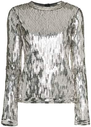 Off-White Sequin Embellished Top