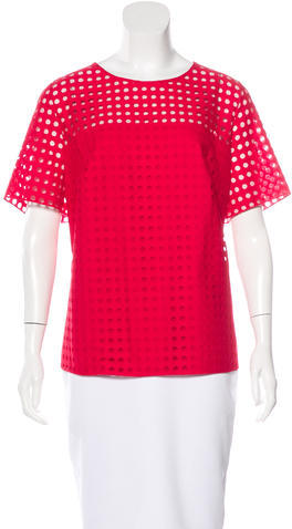 Akris Punto Akris Punto Lace Polka Dot Top