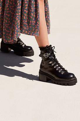 Jeffrey Campbell Check Lace-Up Boot
