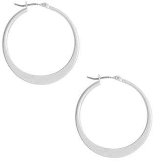 Kenneth Cole New York Silver Sculptural Hoop Earring