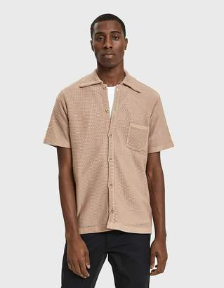Cmmn Swdn Wes Knitted Shirt in Sand