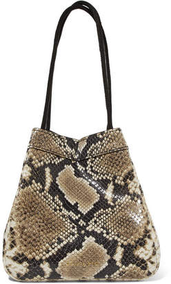 Rejina Pyo Rita Snake Effect Leather Bucket Bag