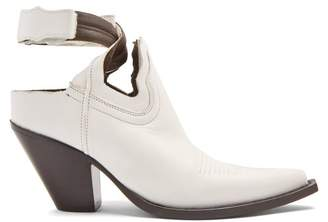 Maison Margiela - Cut Out Leather Boots - Womens - White