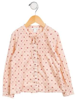 Marie Chantal Girls' Floral Button-Up Top