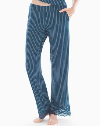 Cool Nights Lace Detail Pajama Pants Pin Dot Stripe Shadow RG