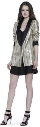 Alice + Olivia Jace Gold Sequin Oversized Blazer
