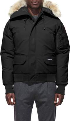 Canada Goose PBI Chilliwack Regular Fit Down Bomber Jacket with Genuine Coyote Trim