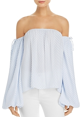 MLM Label Dallas Stripe Off-The-Shoulder Top