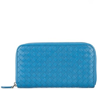 Bottega Veneta Pre-Owned Intrecciato zipper wallet