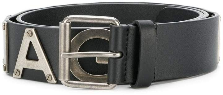 Balenciaga Bal Metal Logo belt