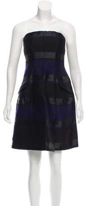 Christian Dior Strapless Striped Dress