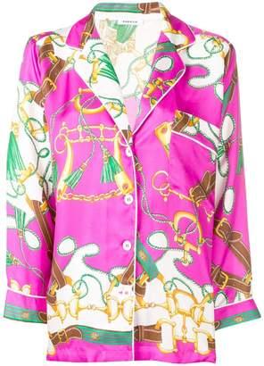 P.A.R.O.S.H. printed 3/4 sleeves shirt