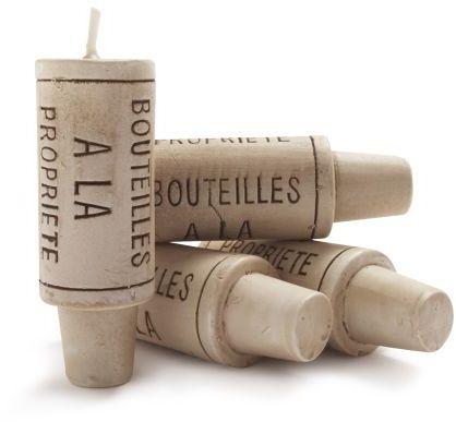 Sur La Table Wine-Cork Candles, Set of Four