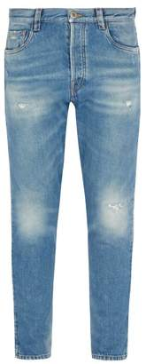 Prada Straight Leg Distressed Jeans - Mens - Denim